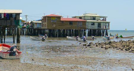 Traditional 'stilt' houses. Koki Village
