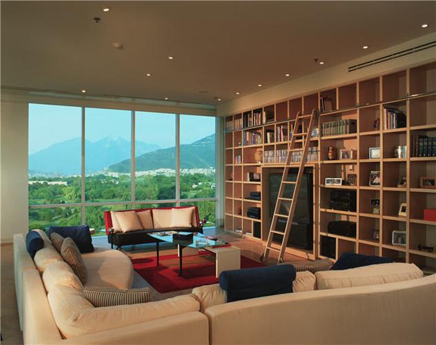 Contemporary Country Club loft Apartment. Interior Modern Design Jerry Jacobs
