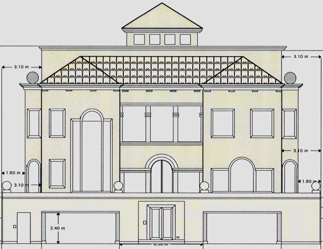 Villa on the Beach elevation drawing