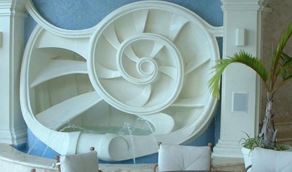 Waterfront Villa Design Nautlius Foutain by Jerry Jacobs Design Blog