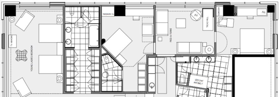 Bedrooms floor plan.