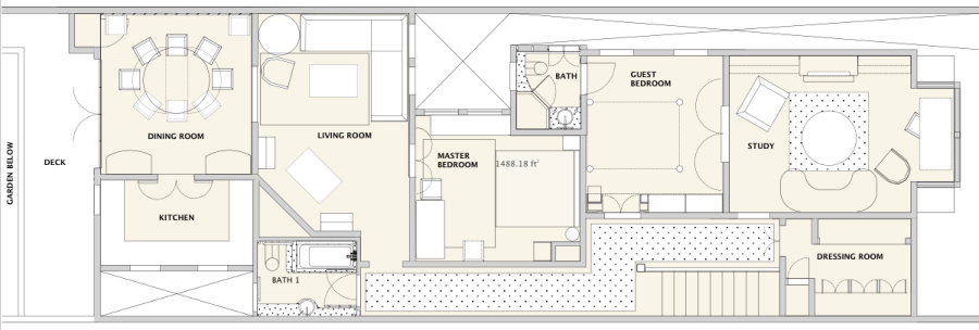 Luxury Interior Design San Francisco. Floor plan.