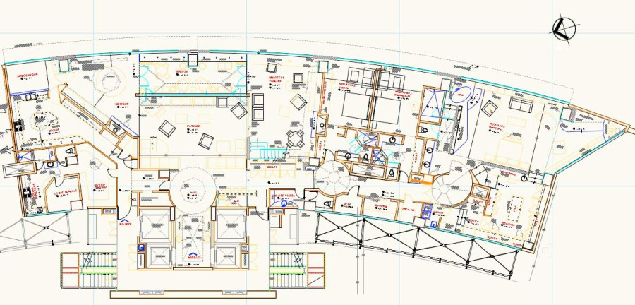 Residential Interior Design. Floor Plan Penthouse