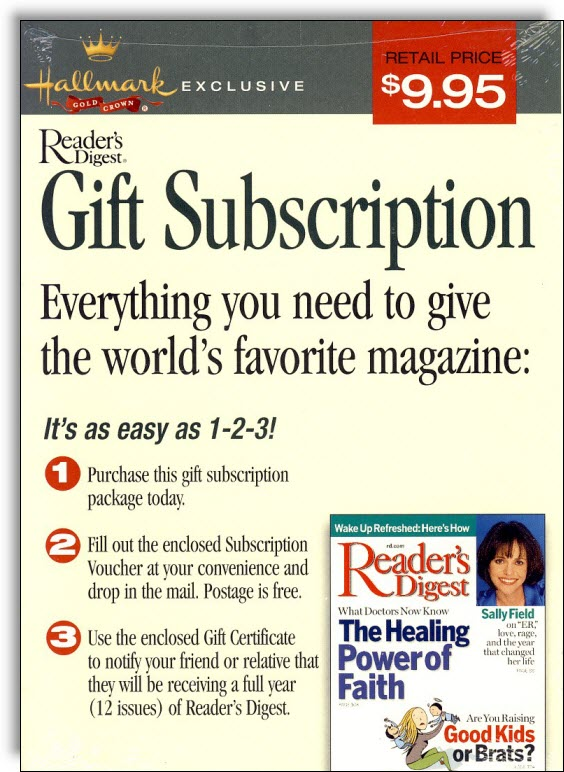 Readers Digest Subscription Gift Pack - Gift Ftempo