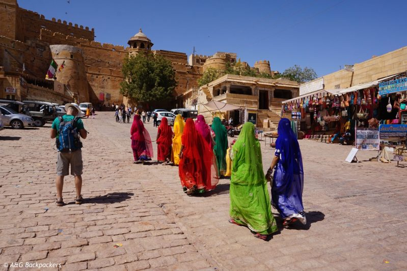 Colors in Jaisalmer fort i India