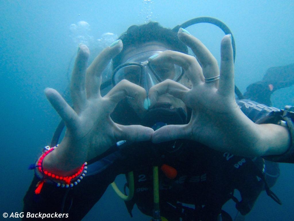 Love scuba diving