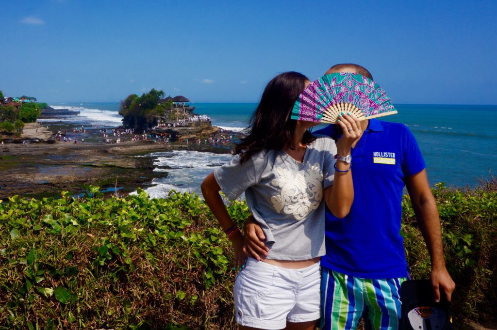 Tanah Lot Low tight (2nd visit): Hello it's the Temple and us