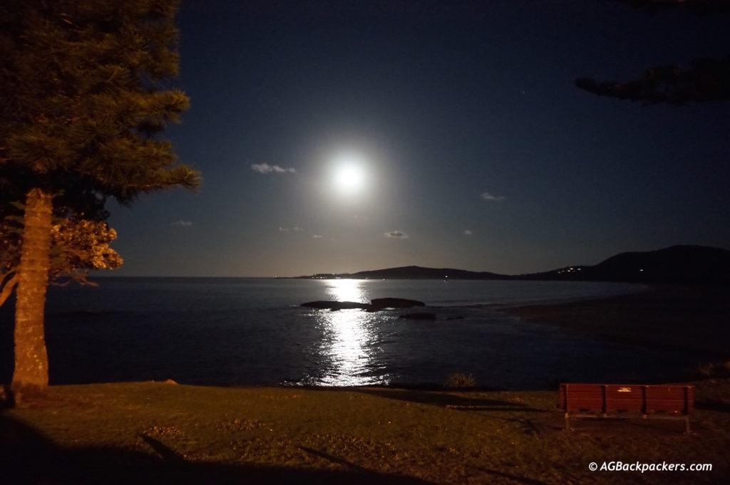 Full moon à South West Rock