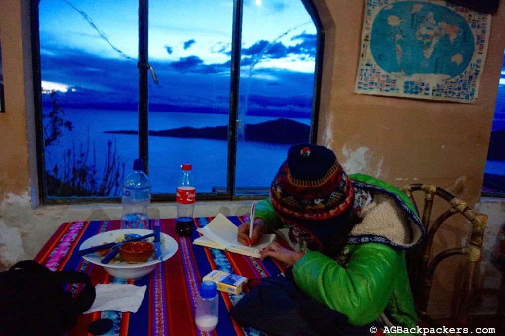 Le meilleur bureau du monde, vue imprenable sur le lac Titicaca