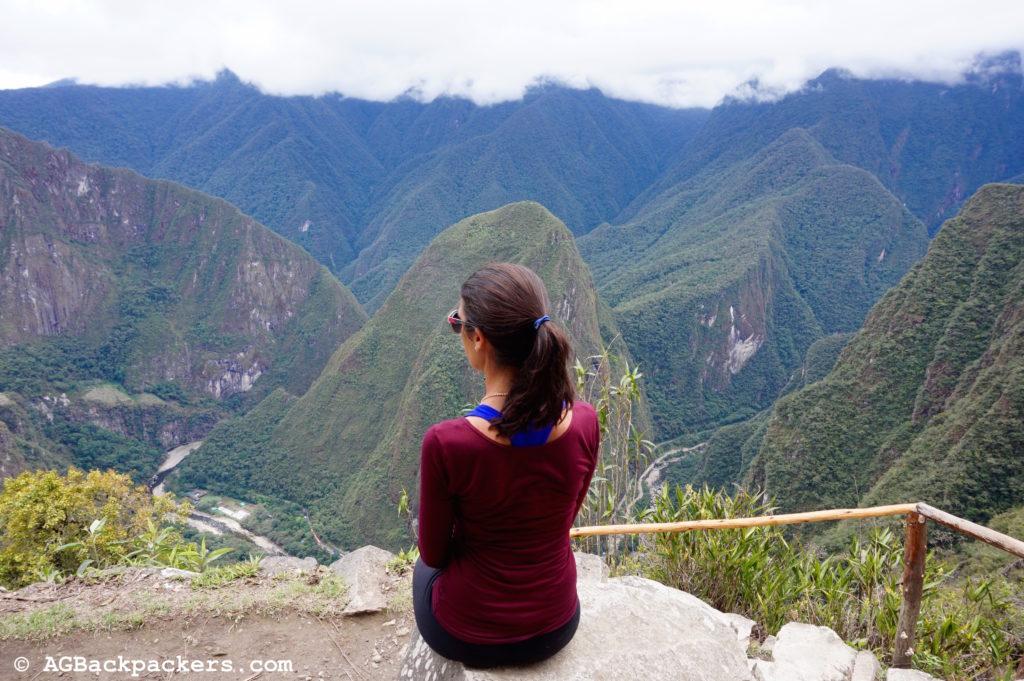 Vue de la Porte du Soleil, meilleur point de vue pour apercevoir le Machu Picchu pour la 1ère fois.