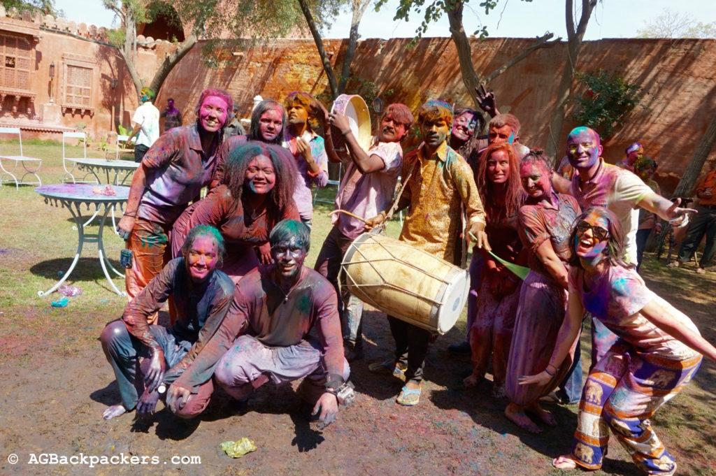 Fete Holi Bikaner en Inde - AGBackpackers