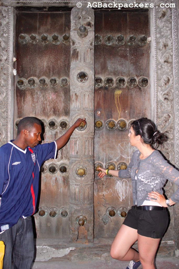 Magical door in Stone Town