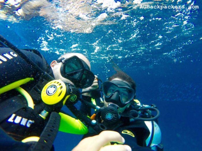 Prêt pour plonger