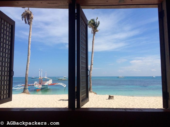 Vue depuis notre hôtel à Malapascua