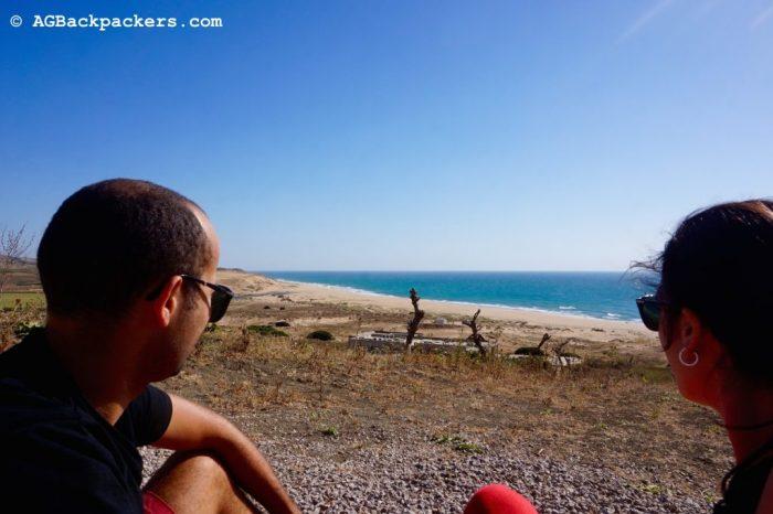Pause Sur la route vers la plage de chez mounir