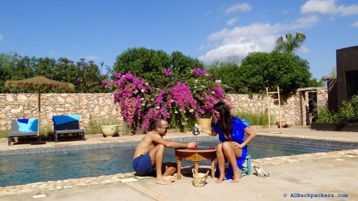 Tea Time by the pool at Koheilan Farm Lodge