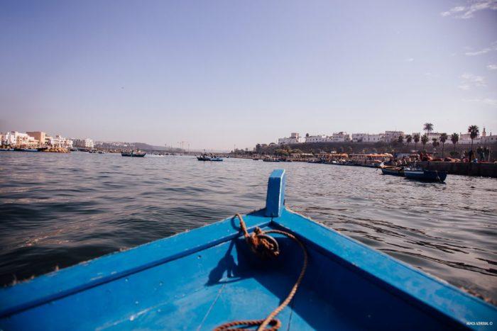 Balade en barque sur la rivière Oued Bouregrag à Rabat