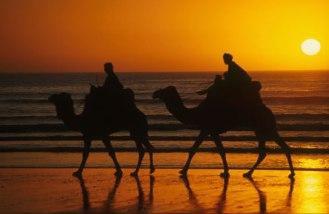 Coucher du soleil sur la baie d'Agadir