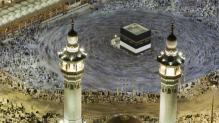 Kaaba au cœur de la mosquée Masjid Al-Haram (« La Mosquée sacrée »)