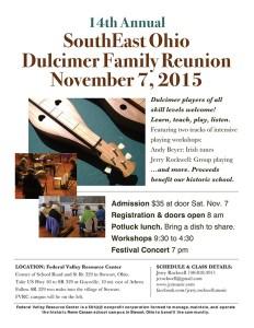 SouthEast Ohio Dulcimer Family Reunion Poster