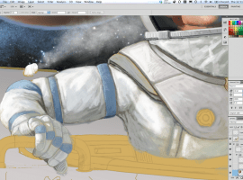 Space Cadet Illustration, Digital Painting Step-by-step
