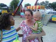 Ann with her grandson Dalton and one of her resident's daughter Joyce