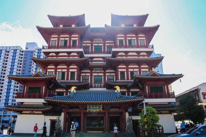 Buddha Tooth Relic Museum visto por fuera