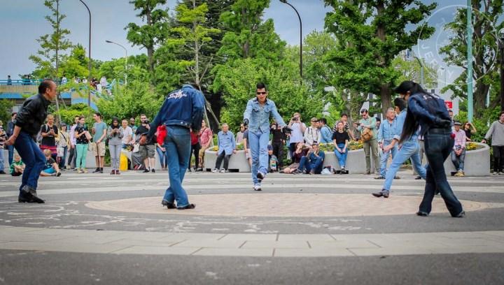 Los Rocka Billies en el Yoyogi Park