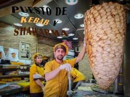 Puesto de kebab y shawarma