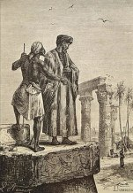 Ibn Battuta en Egipto. Ilustración por Léon Benett.