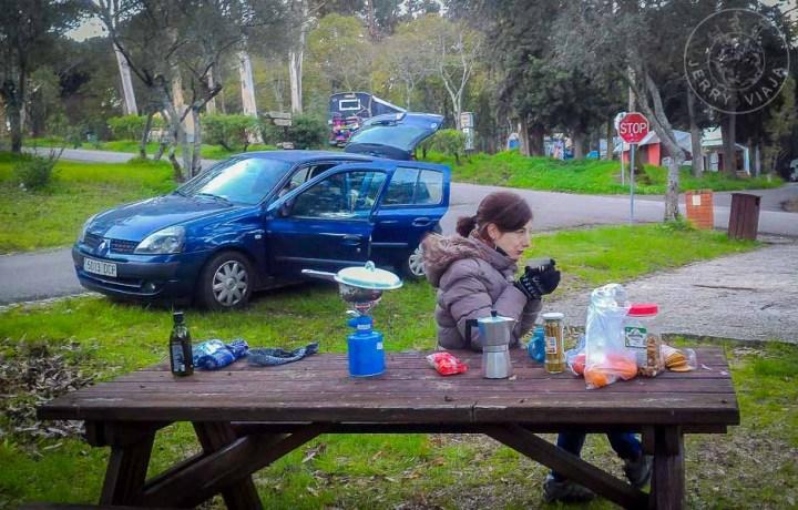 Camping en Lisboa.