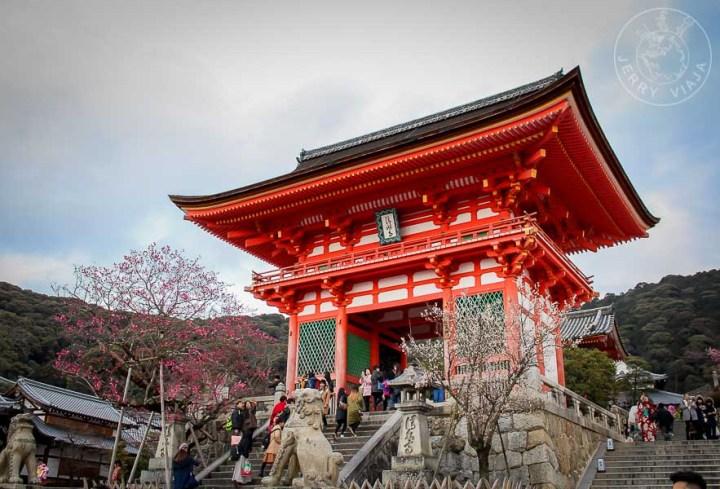Templo en Templo Yasaka jinja en Kioto, Japón