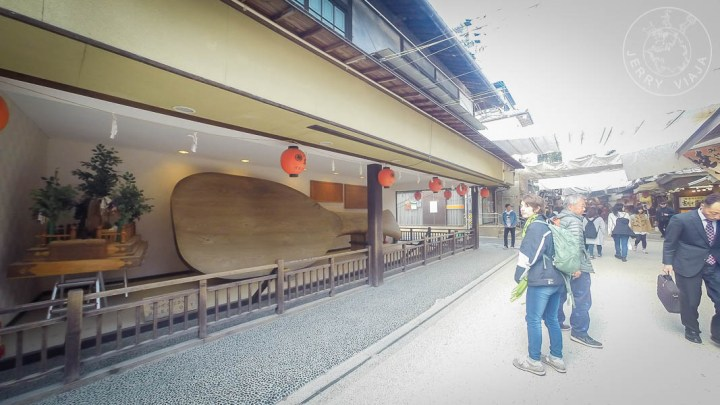Paleta de arroz, calle Omotesando, Miyashima, Japon
