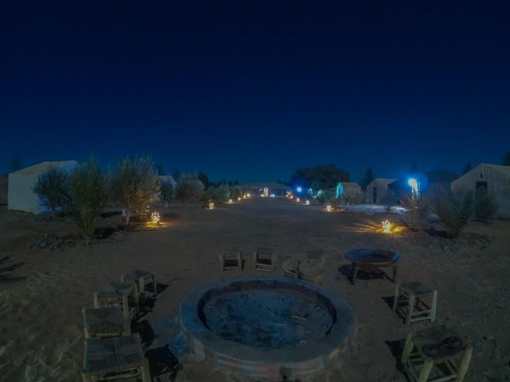 Campamento de haimas en Erb Chebi Merzouga, Marruecos. Desierto del Sahara.