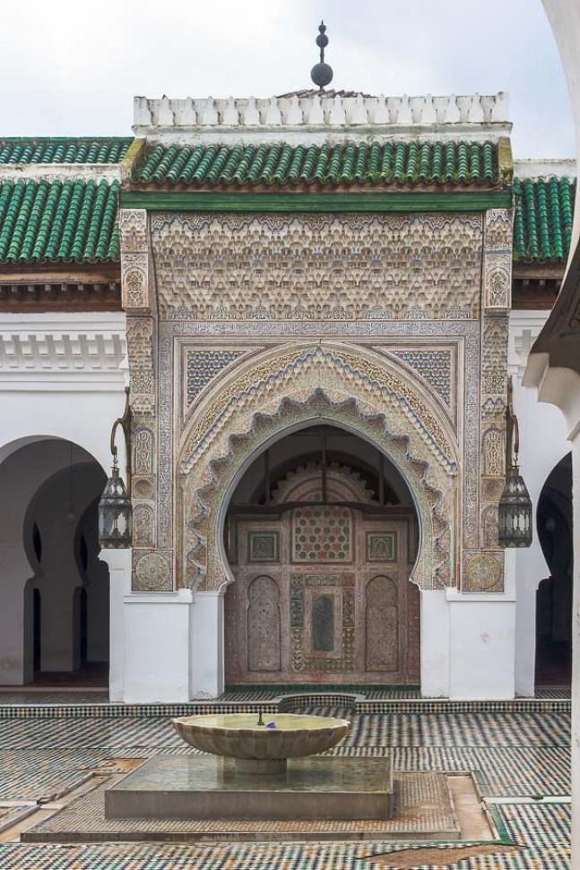 Patio interior de la Mezquita y Madraza Al Karaouine. Fez