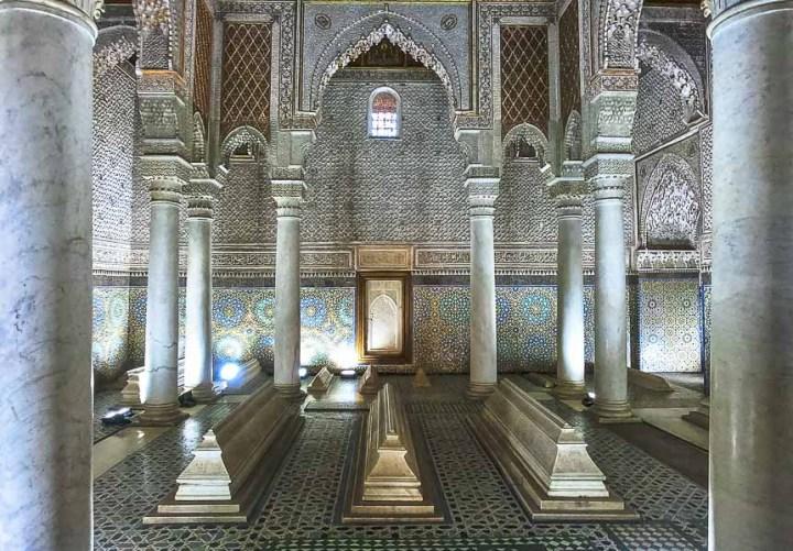 tumba de los Saadíes, Marrakech, Marruecos