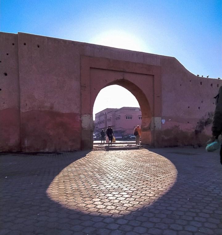 Puerta Bab Doukkala, marrakech, marruecos