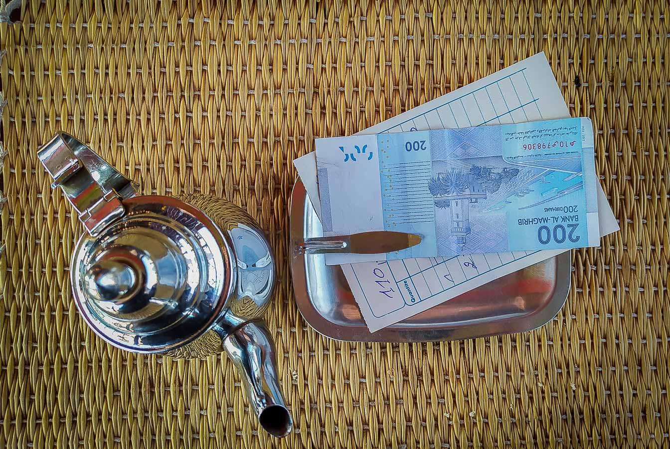 gastos en marruecos Billete Dinero marroquí