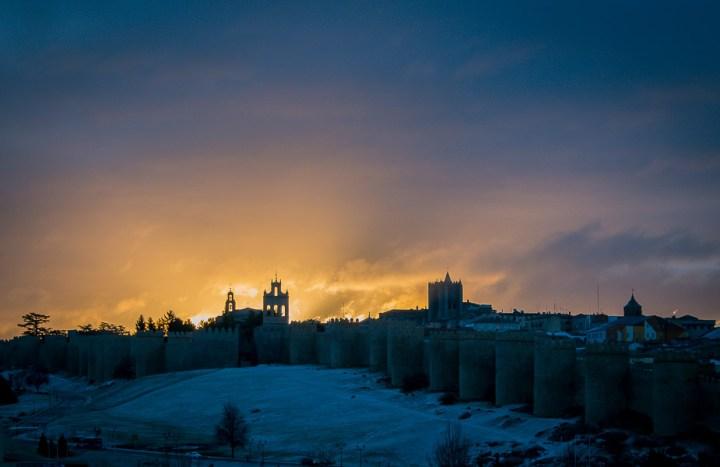 recinto amurallado de la Ciudad Vieja de  Ávila, Castilla y León, España