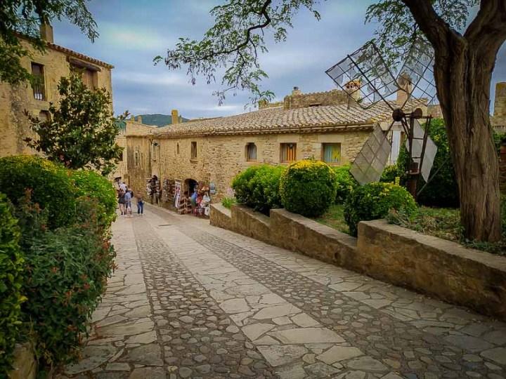 Pueblo de Pals, Catalunya, España