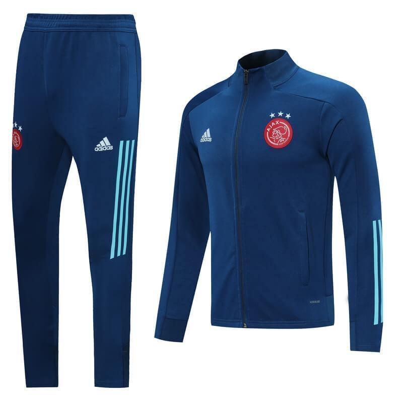 20/21 Ajax Blue Tracksuit - Jersey Loco