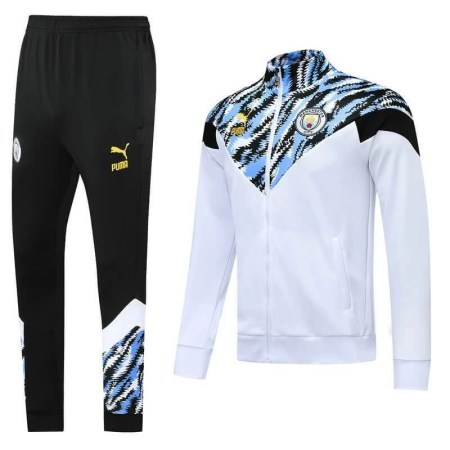 20/21 Manchester City White/Blue Camo Tracksuit - Jersey Loco