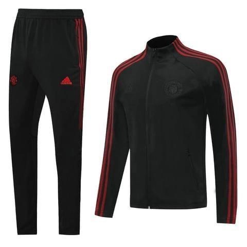 20/21 Manchester United Black/Red Tracksuit - Jersey Loco