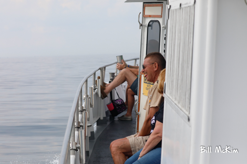 Bruce and Melinda had a great time! Whale watching off the coast of Monmouth County