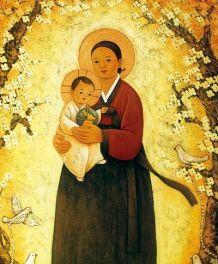 Korean Madonna and Child
