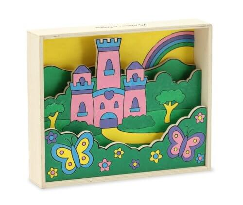 3D Wooden Paint By Number Castle Scene
