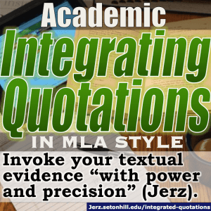 Understanding and Writing in the MLA Format Style