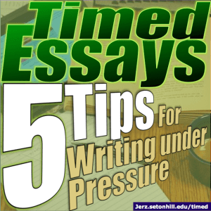 Terrorism Essay In English Timed Essays  Tips For Writing Under Pressure English Essay Short Story also Essay Good Health Timed Essays Top  Tips For Writing Academic Papers Under Pressure  What Is A Thesis Of An Essay