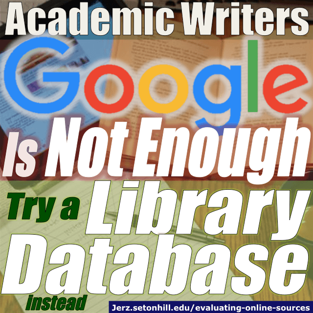 Research Essays: Evaluating Online Sources for Academic Papers ...