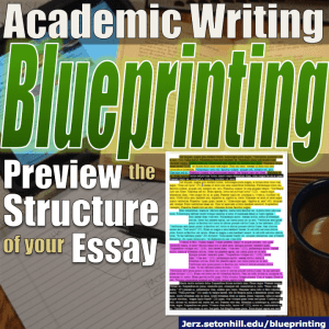 blueprinting using the thesis paragraph to plan your essay  jerzs  blueprinting using the thesis paragraph to plan your essay